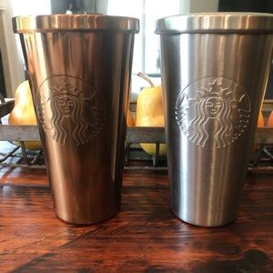 Starbucks metal tumblers